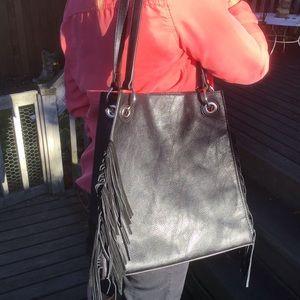 Urban Originals Black Fringe Bag EUC